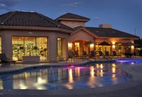 Night Swimming Pool at Finisterra Luxury Rentals in Tucson, AZ.jpg