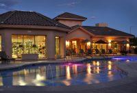 Night Swimming Pool at Finisterra Luxury Rentals in Tucson, AZ.jpg